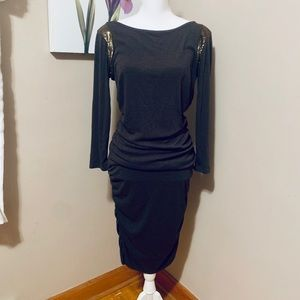 NWT Ann Taylor sequin shoulder dress